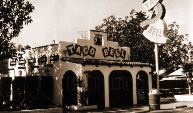 First Taco Bell restaurant opened by Glen Bell in Downey, California.