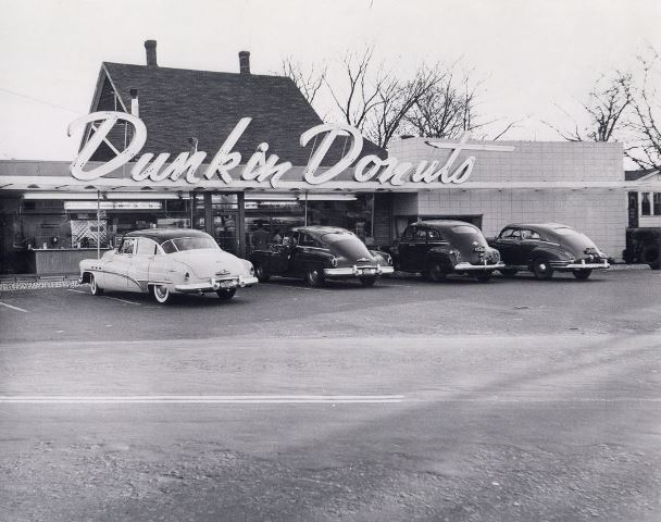 Original Dunkin' donuts store location in Quincy, Massachusettes