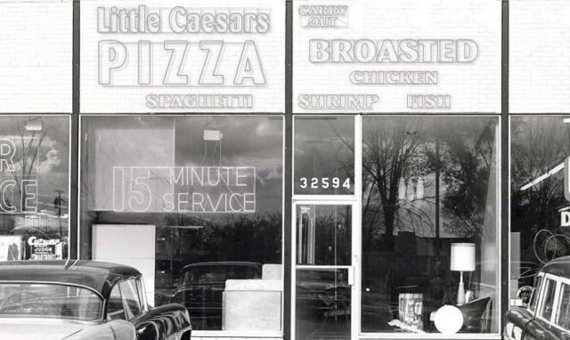 Picture of the orginal Little Caesars in Garden City Michigan, a suburb of Detroit. Opened in 1959 by Mike and Marian Illitch.