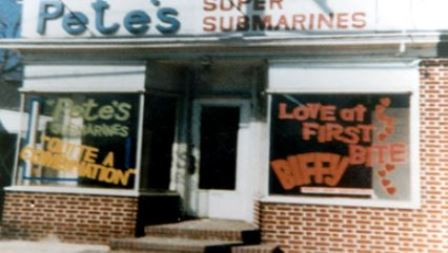 Picture of Pete's Super Submarines which was the first Subway restaurant started